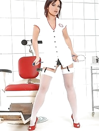 Sylvia Laurent poses as nasty nurse