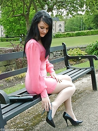 This horny stiletto girl looks amazing in her high heels..