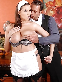 Sexy maid Sensual Jane gets fucked