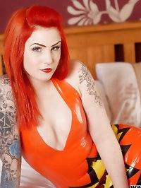 leanne orange dress