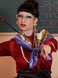 feeling up Ms Trinity the sexy mature teacher