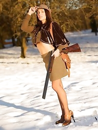 Shooting in nylons