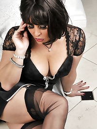 Sultry hun loves dark nylon
