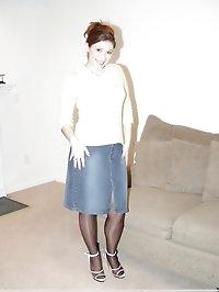 Lusty darlings in nylon pantyhose