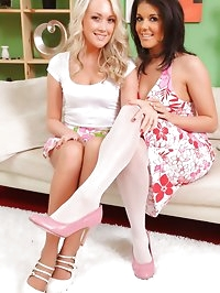 Kelly M and Lucy Anne make a real treat as they slowly..