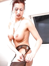 elegant glamour lady masturbating in her clothes