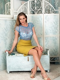 Danielle wants to show you how hot proper vintage nylons,..