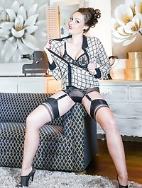 Sophia likes to get dressed in vintage lingerie, smart..