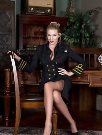 Danielle as a female superior officer wearing full fashion..