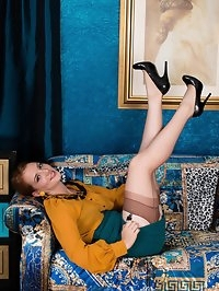 Jessica looks hot in her retro office uniform, sporting..