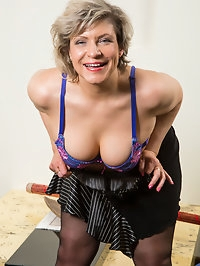 Russian granny Angel Baby is ready to show you her sexiest..