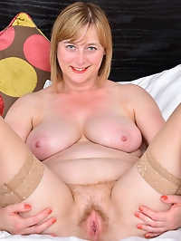 46 year old housewife April is a European milf that is..