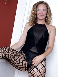 Beautiful Mona Wales In Fishnets
