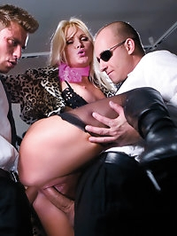 Sexy Kathy is well able to handle two guys at the same time