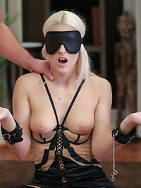 Blanche Bradburry is Handcuffed, Blindfolded and DP'd by..
