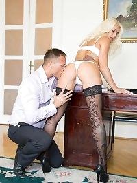Milf Secretary Dyana Hot Fucks Her Horny Boss in the Office