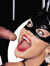 Fetish blonde wearing a mask gives a blowjob and does anal
