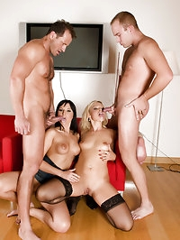 Two couples go for some real swinger action