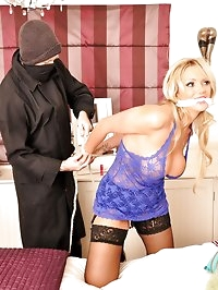 Gorgeous Milf is overpowered and then restrained in her..