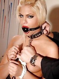 Hot bound blonde gets disciplined