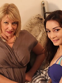 Two naughty British housewives playing with eachother