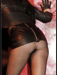 Nylons and leather