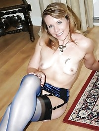 milf strips to nylons