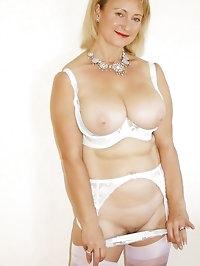 Sexy mum loves white lingerie