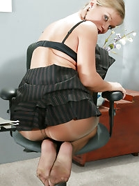 Rita Faltoyano in Pantyhose at the Office
