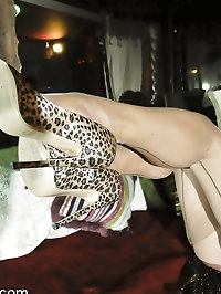 Sexy MILF Astrid in nude FFS stockings and fuck me heels