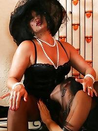 Babes in sexy black veils