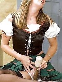 milk maid gets playful