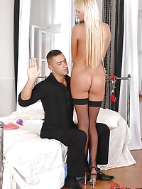 Naughty maid gets that ass spanked