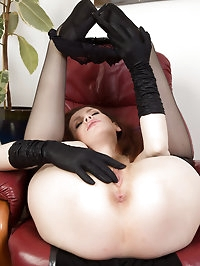 Elegant and mysterious Mystique from AllOver30 rubs her..