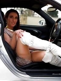 Miss Hybrid Hand Job in thighboots