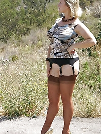Outdoor fun with a foxy granny