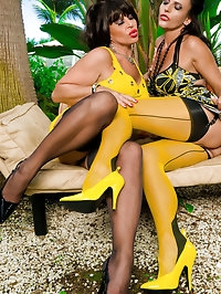 Charming darlings in yellow outfits