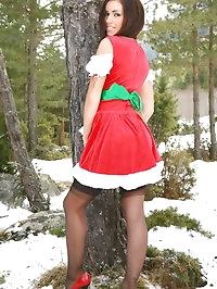Cute Gemma Massey makes a real Christmas treat as she..