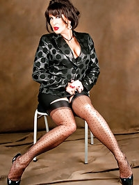 Mama wears polka dot stockings