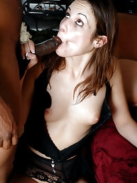 Slutty brunette can afford two thick tools