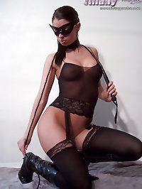 Black Fishnet and stocking outfit