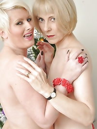 Gorgeous MILFs Hazel and Sally perform a sexy striptease..