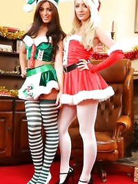 Natalia and Alana tease each other out of their Kinky..