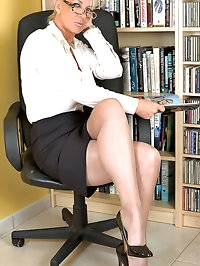 Astrid - Librarian Astrid strips to open bottom girdle FFS..