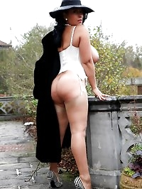 Danica Collins takes a walk and a wank in the garden
