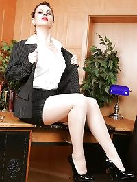 Lonely secretary works overtime