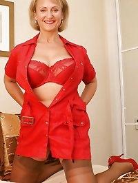 Fiery hot beauty in nylon