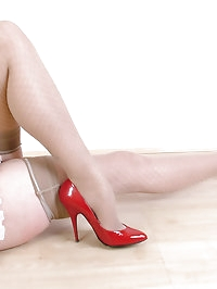 Red high heels are the perfect present for Valentines day.